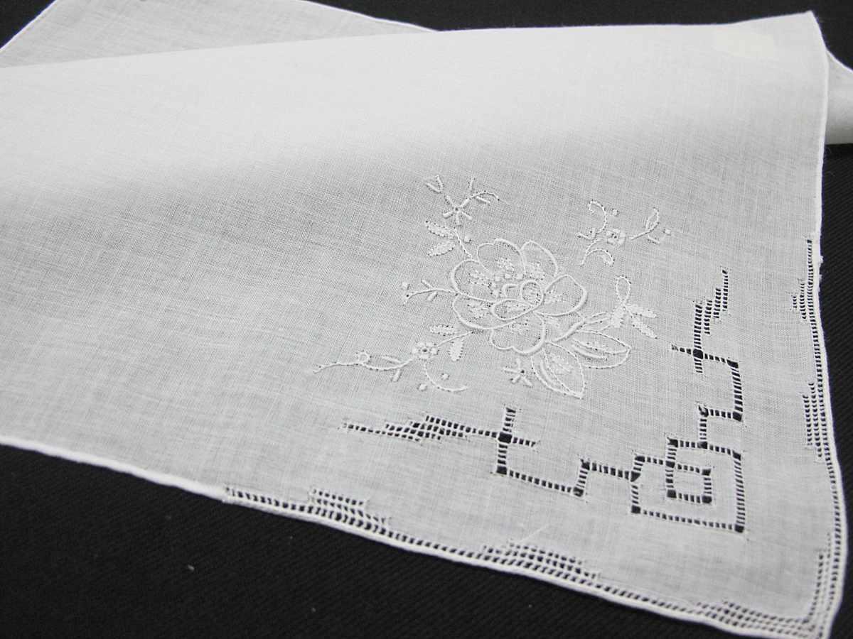 Pañuelo de Señora muy bordado en esquina con FILTIRÉ