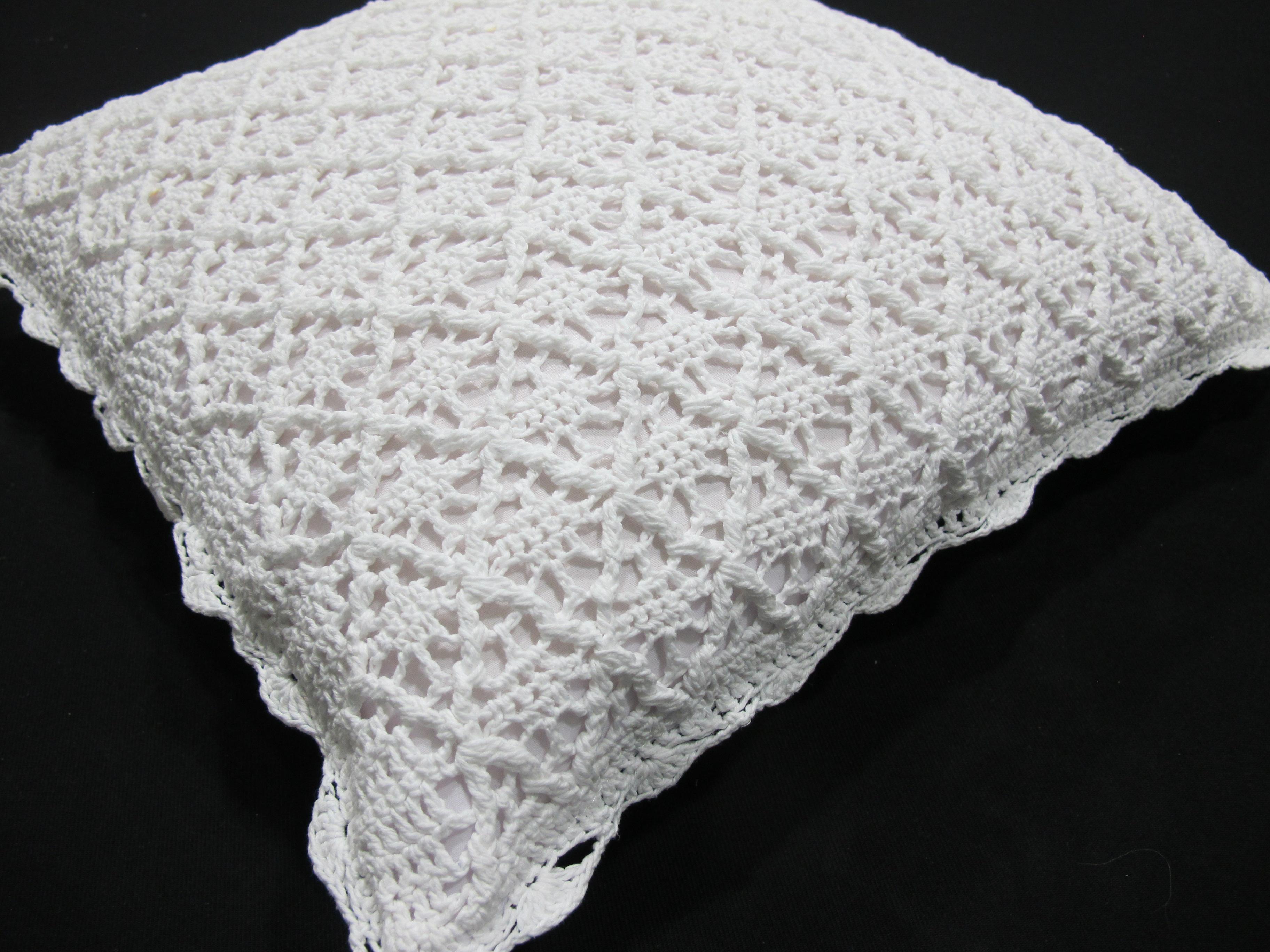 Funda Crochet Algodón Dibujo Rombos